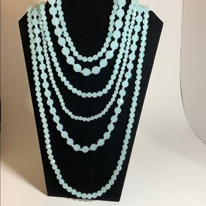 Powder Blue Beaded Necklace